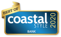 winner badge for Coastal Style Magazine for Best Bank 2020